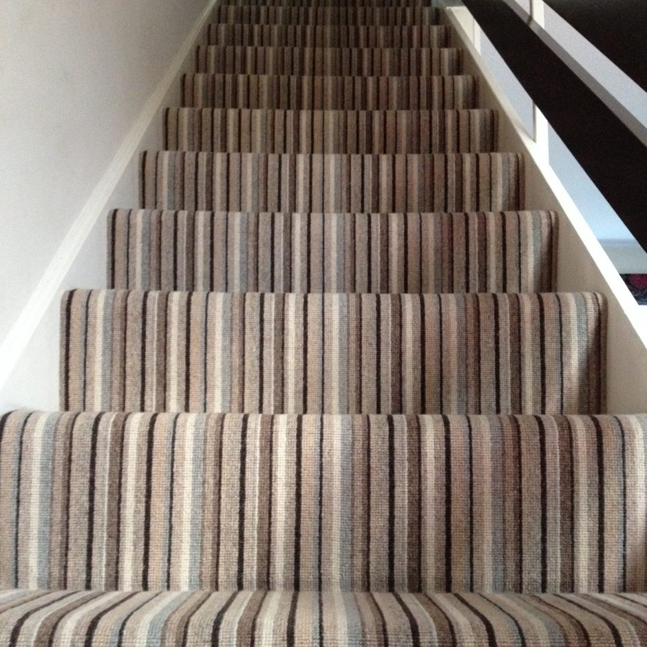 Stripe Stair Carpet Installation 183 Kinglsey Carpets