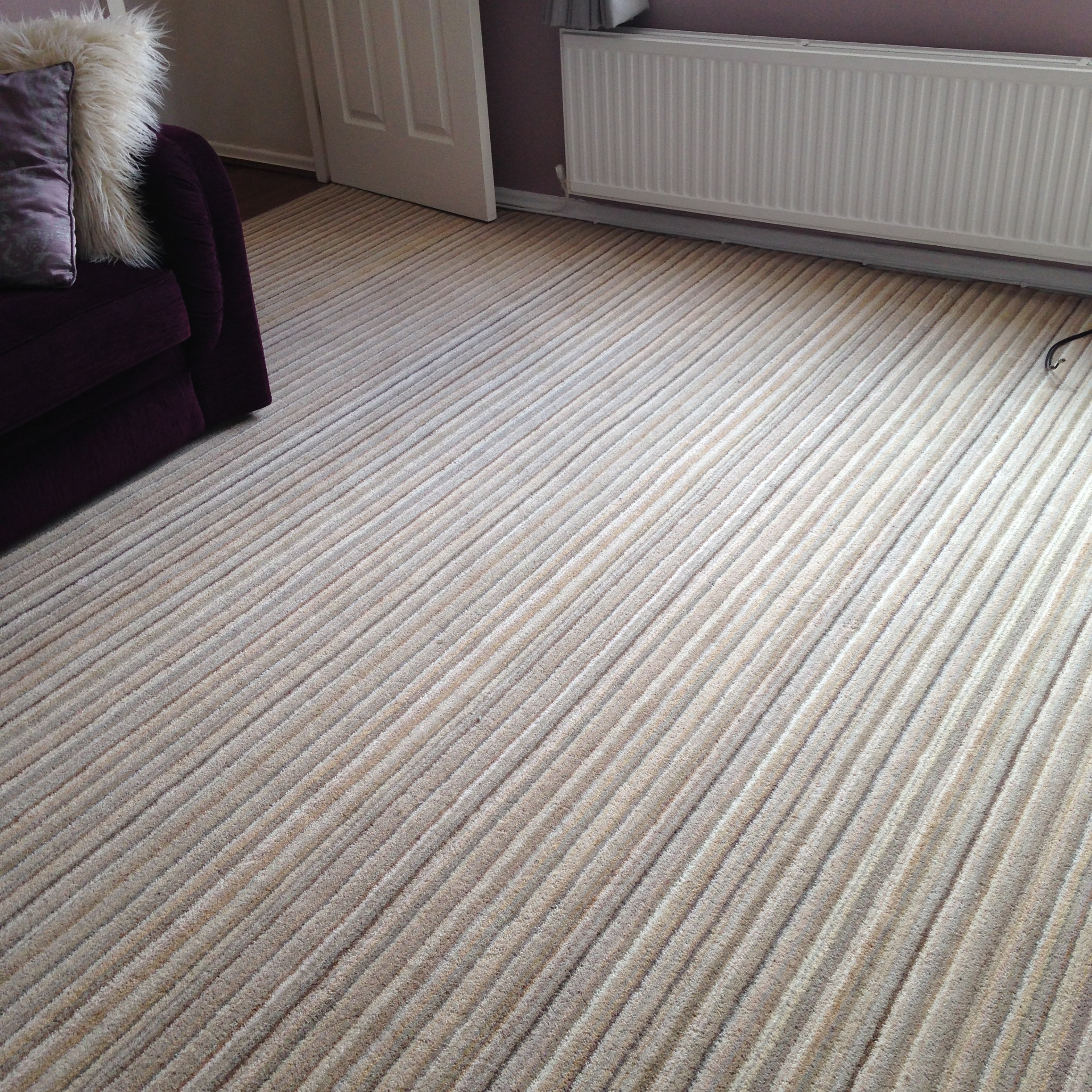 Lounge Wool Stripe Carpet Installation Kinglsey Carpets